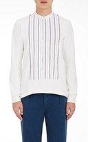 Visvim Men's Jacquard-Front Shirt-WHITE