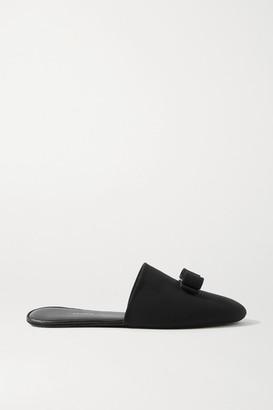 Salvatore Ferragamo Vern Dream Bow-embellished Cady Slippers