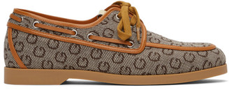Gucci Brown G Boat Shoes