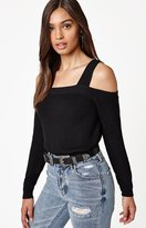 KENDALL + KYLIE Kendall & Kylie Cold Shoulder Sweater Top