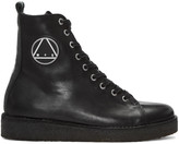 McQ by Alexander McQueen Black Crepe Sole Boots