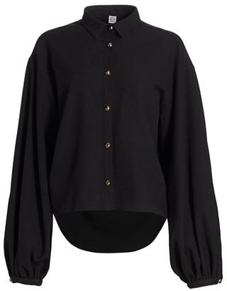 Totême Novale Puff-Sleeve Shirt