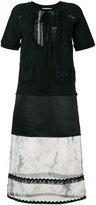 Coach floral sheer detail dress - women - Cotton/Silk/Polyamide/Cupro - 4