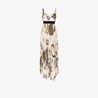 Silvia Tcherassi Zenu circle print maxi dress
