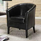 Linon Simon Black Club Chair