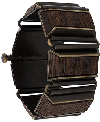 Gianfranco Ferré Pre Owned 2000s Wooden Bangle Bracelet