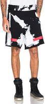 Off-White White Liquid Spots Shorts