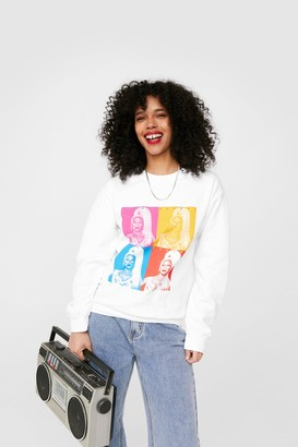 Nasty Gal Womens Realness RuPaul Graphic Sweatshirt - White - S