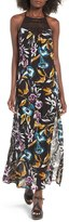 Band of Gypsies Crochet Inset Floral Print Maxi Dress