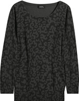 A.P.C. Leopard-print cotton sweater