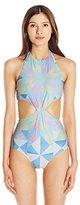 Mara Hoffman Women's Fractals Knot-Front One-Piece Swimsuit