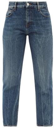 Balenciaga Distressed Straight-leg Cropped Jeans - Denim