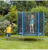 Plum Blue 6ft Trampoline And Enclosure