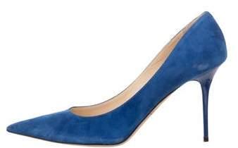 df0de5cb59 Jimmy Choo Blue Pointed Toe Pumps - ShopStyle