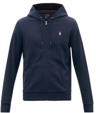 Polo Ralph Lauren Logo Embroidered Hooded Sweatshirt - Mens - Navy