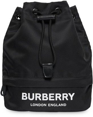 Burberry Logo Printed Drawstring Pouch