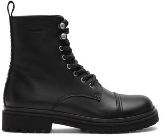 Versace Black Combat Boots