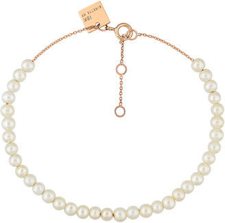 ginette_ny Mini Maria 18K Rose Gold Mother-Of-Pearl Bracelet