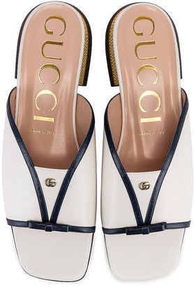 Gucci Alison Sandals in Blue & Great White | FWRD