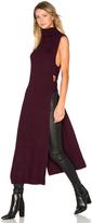 McQ by Alexander McQueen Sleeveless Turtleneck Midi Dress