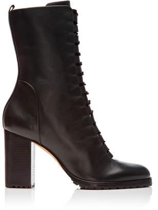 Alexandre Birman Heeled Leather Combat Boots Size: 36