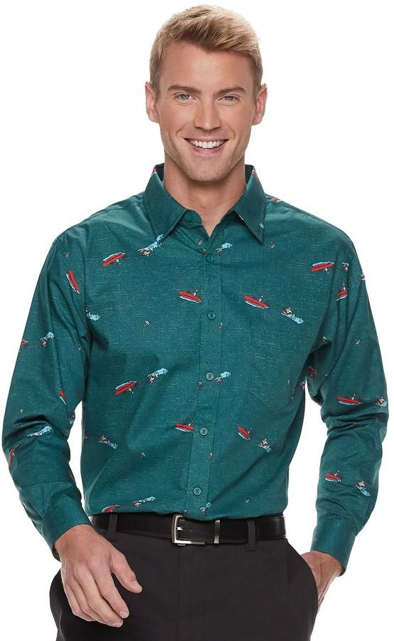 Haggar Men's Regular-Fit Button-Down Shirt