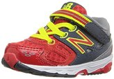 New Balance KA680 Infant Running Shoe (Infant/Toddler), Grey/Red, 10 E US Toddler