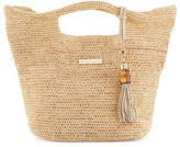 Heidi Klein Grace Bay Mini Raffia Beach Bucket Bag, Neutral