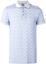 fe-fe boat print polo shirt