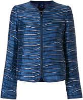 Emporio Armani metallic printed collarless jacket