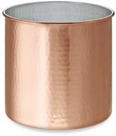 Hammered Copper Partitioned Utensil Holder