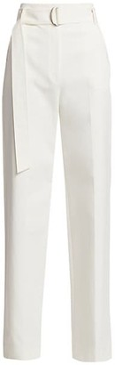 St. John Washed Stretch-Canvas Trousers