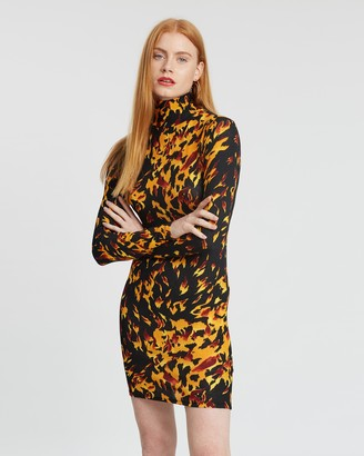 Topshop Flame Tunic Dress