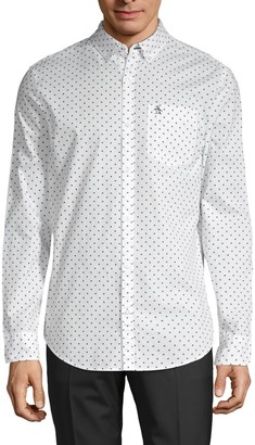 Original Penguin Star-Print Long-Sleeve Shirt