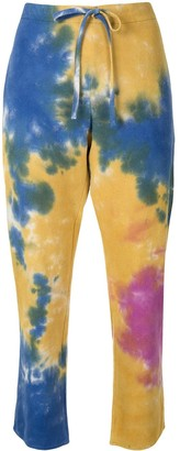 The Elder Statesman Geo silk trousers