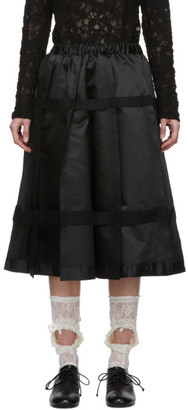 Comme des Garcons Black Pleated Strap Skirt