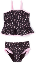 Juicy Couture Black & Pink Hearts & Lgoo Tankini - Infant Toddler & Girls