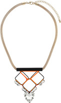Topshop Premium Crystal Geo Pendant Necklace