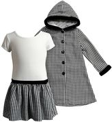 Youngland Girls 4-6x Houndstooth Dress & Coat Set