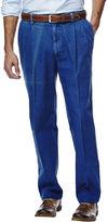 Haggar Work to Weekend Classic-Fit Pleated Denim Pants