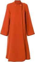 Chloé Oversized trapeze coat - women - Polyamide/Virgin Wool - 34