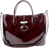 Longchamp Roseau patent leather satchel