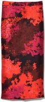 Rochas Lavender Pencil Skirt in Medium Red