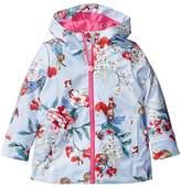 Joules Kids Printed Waterproof Coat Girl's Coat
