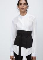 Ann Demeulemeester forester black large raw edge waist belt