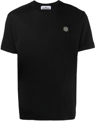 Stone Island logo patch cotton T-shirt