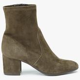 John Lewis Olive Block Heeled Ankle Sock Boots