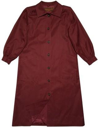 Saint Laurent Red Cotton Trench Coat for Women Vintage