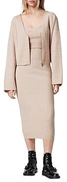 AllSaints Enya Ribbed Skirt