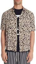 McQ by Alexander McQueen Sheehan Leopard Print Slim Fit Button-Down Shirt
